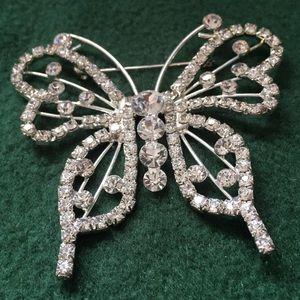 Vintage Large Butterfly Brooch